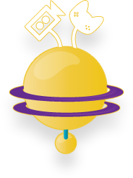 Yellow Planet Icon